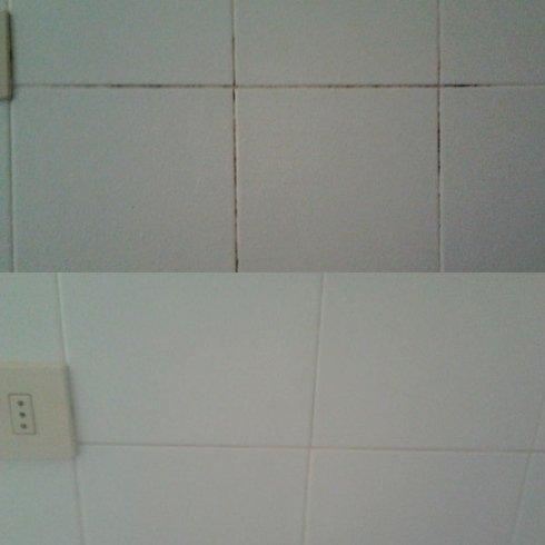 muro prima e dopo il trattamento