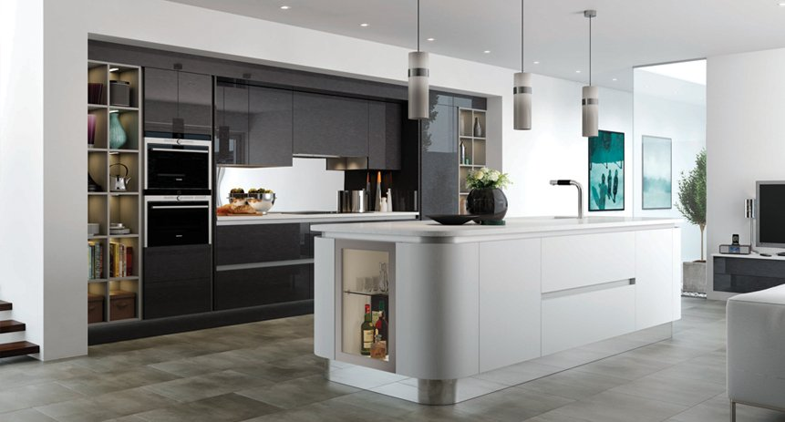 Interchangeable fitted kitchens in Devon  Cucina Colore range