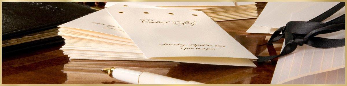 art script calligraphy wedding invitation