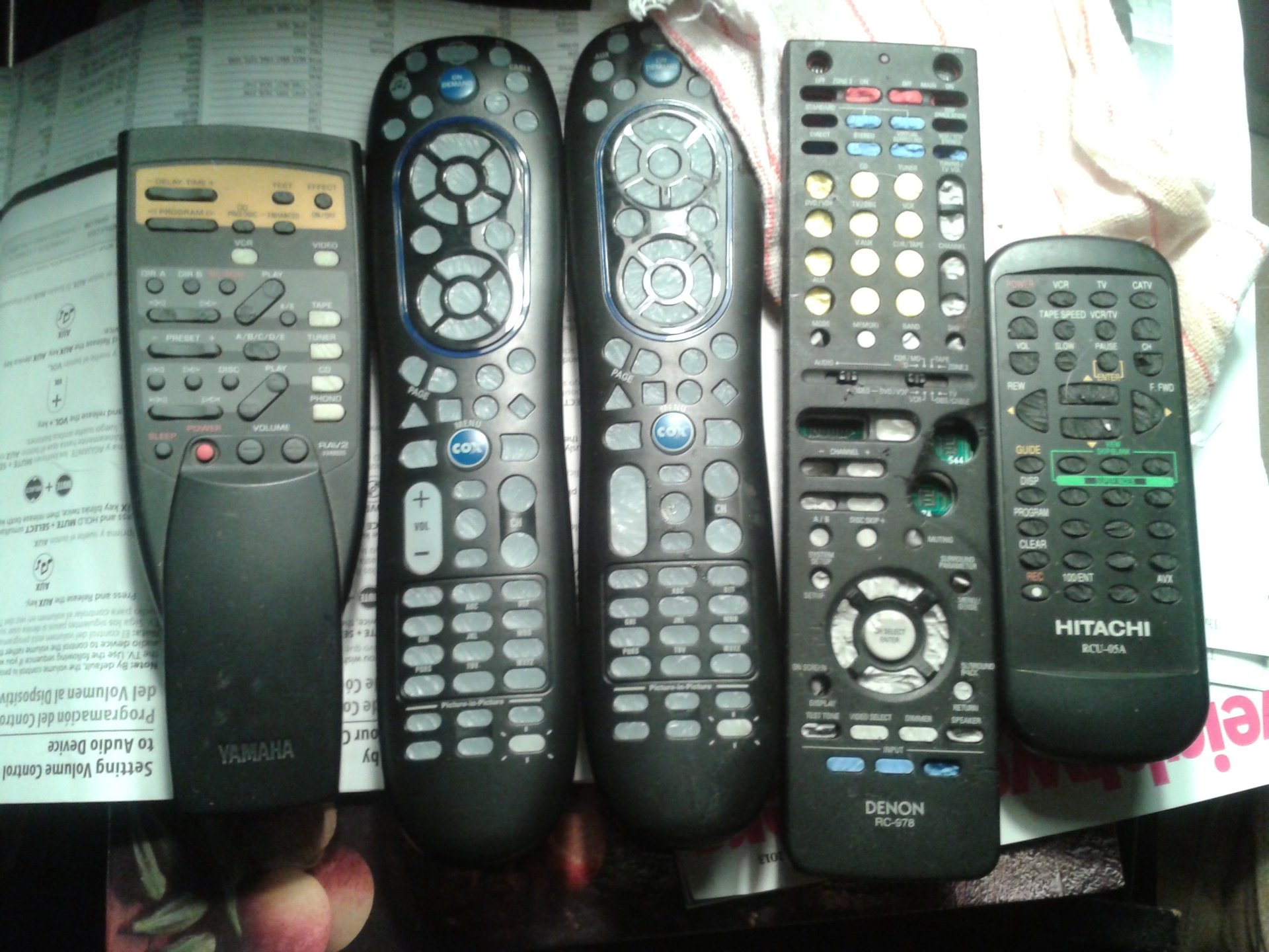 Rat damage to remote controls Mansfield, MA