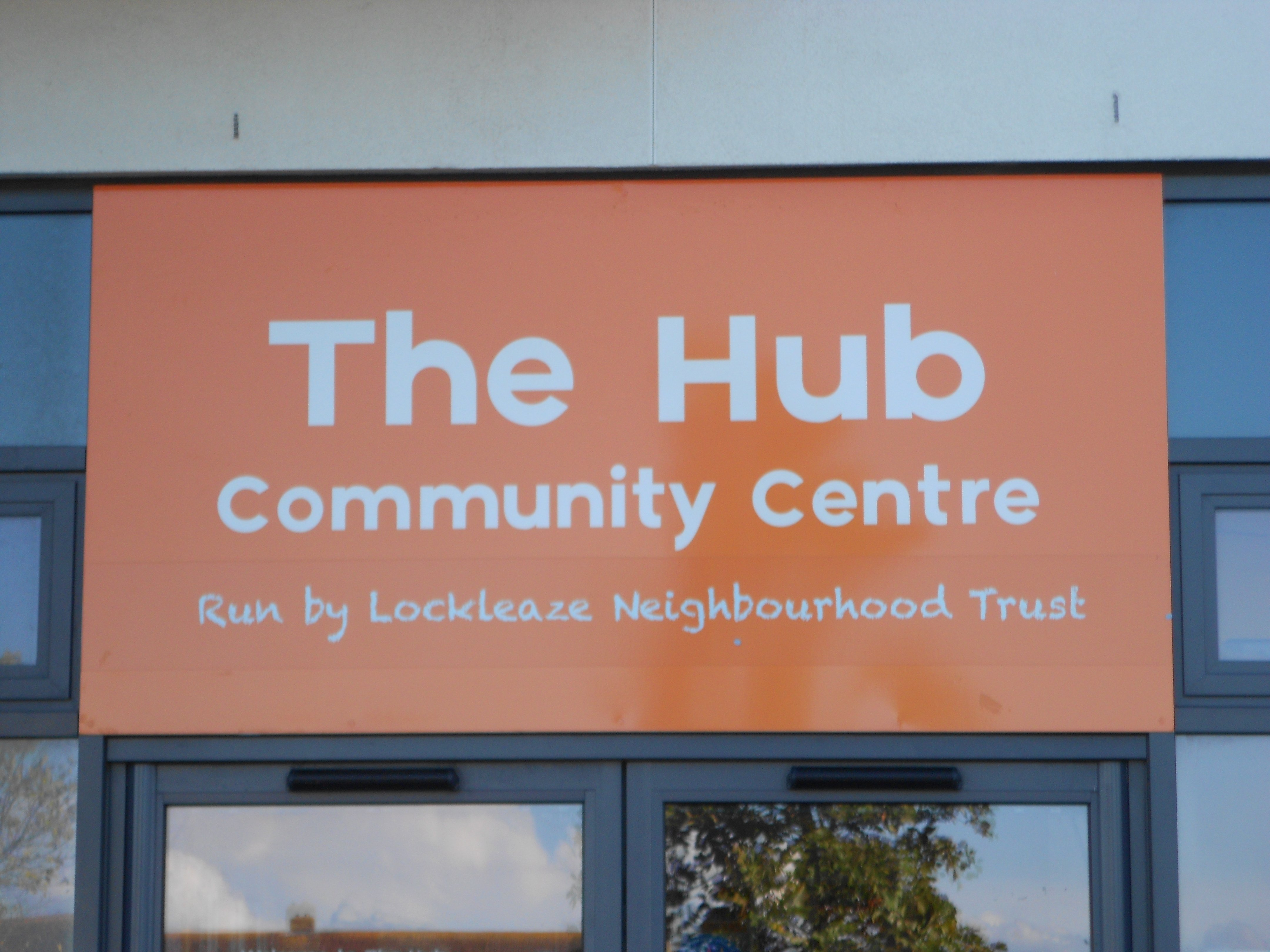 The Hub Community Centre sign