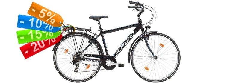 Offerte e sconti biciclette e abbigliamento sportivo