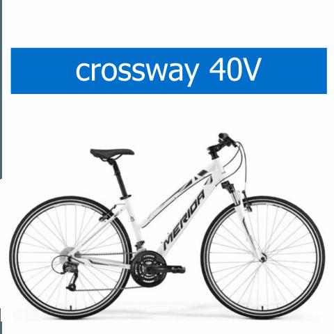 bicicletta Olmo modello Merida Crossway 40V