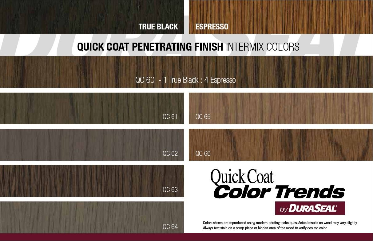 Photo Duraseal Stain Chart Images Interior Wood Stain