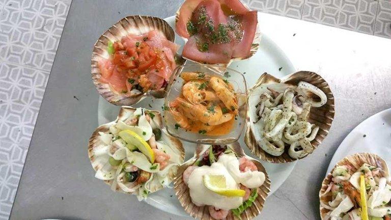 ristorante pizzeria, specialità di pesce