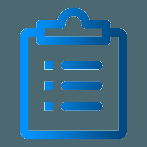clip board and list icon