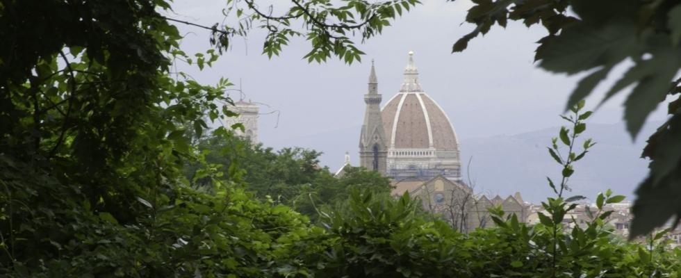duomo di Firenze all'orizzonte