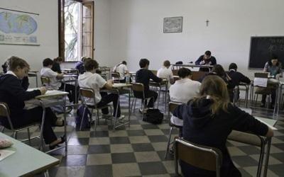 una classe di scuola media