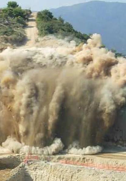 Esplosivi negli scavi