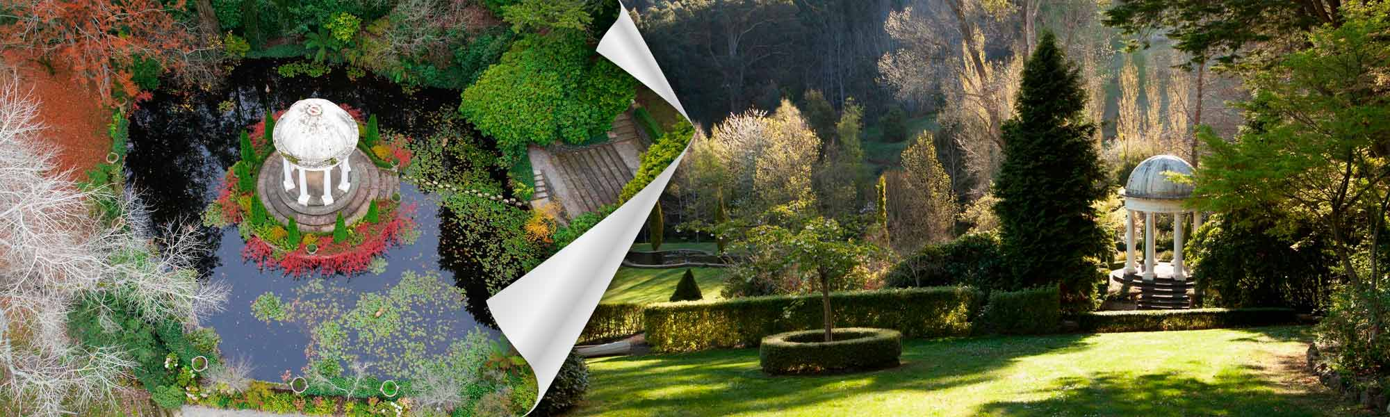 Beautiful colonial gardens in Mount Macedon