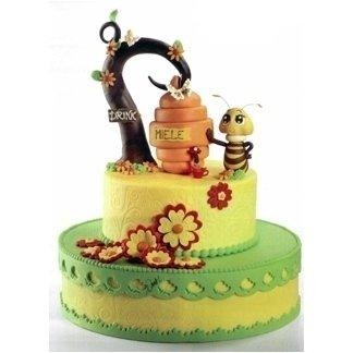 Torta con api e miele