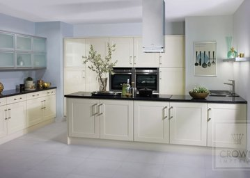 bonito kitchen in oyster and white