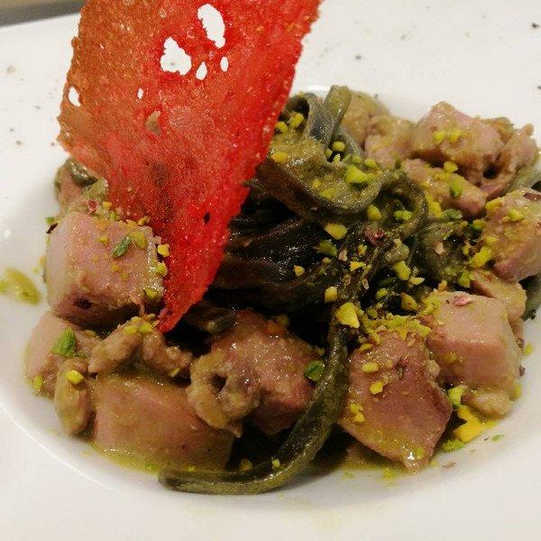 Piatto di pesce e verdura