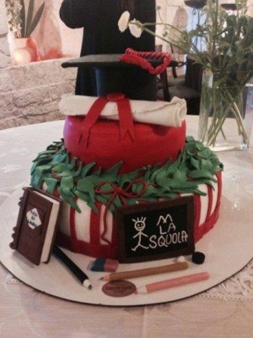 torta di laurea personalizzata