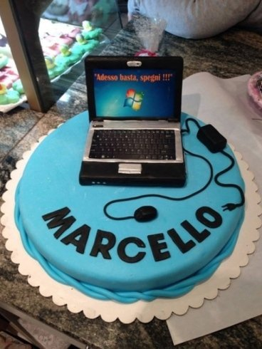 torta per il compleanno di Marcello
