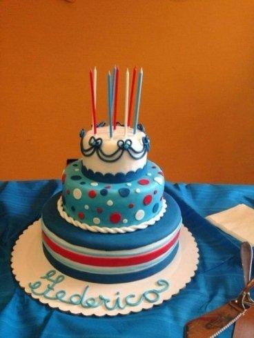 torta su piani per il compleanno di Federico