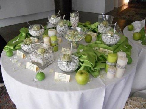 Tavolo confetti per evento