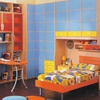 letto singolo, scrivania, armadio