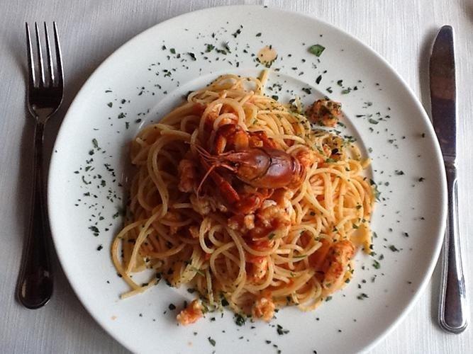 Spaghetti ai gamberi di lago