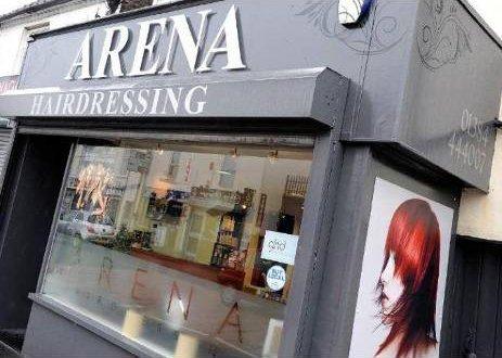 Exterior view arena hair dressing