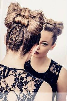 Hairstyling with braids