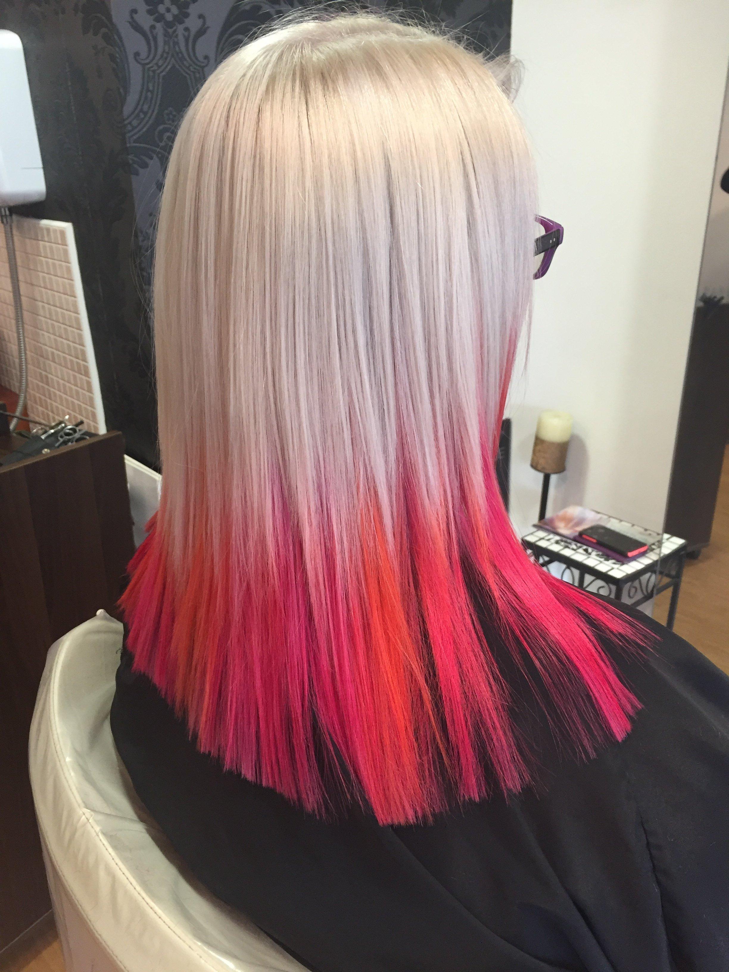 shaded hair