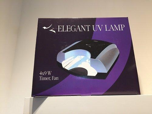 un depliant con scritto Elegant Uv lamp