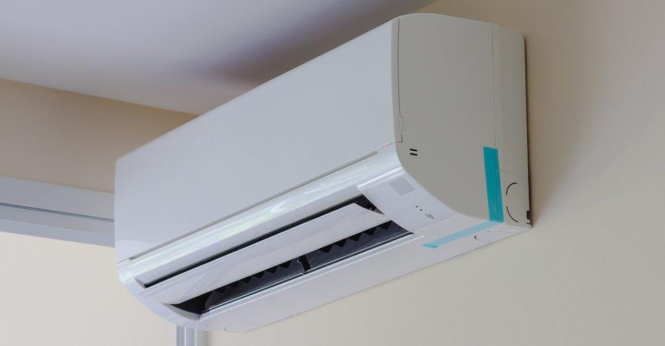 Un climatizzatore a parete a Ravenna