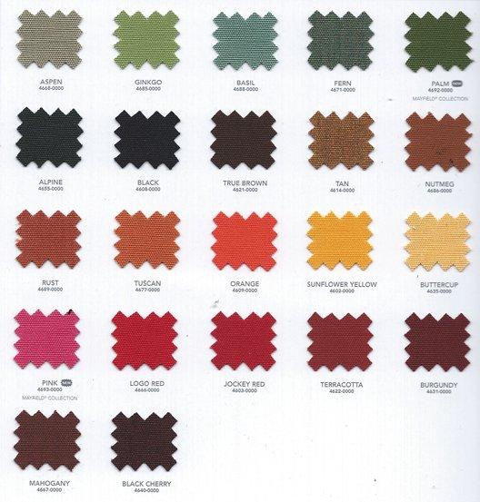 Sunbrellla colors for our Swim Spa Covers 04