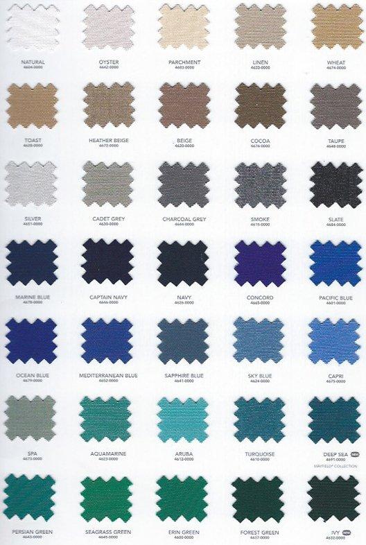 Sunbrellla colors for our Swim Spa Covers 03