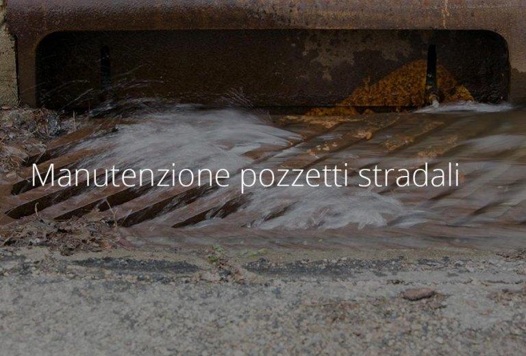 pulizia di caditoie stradali
