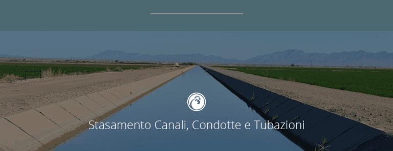 DISOSTRUZIONE DI CANALI E IMPIANTI DI GRANDE PORTATA