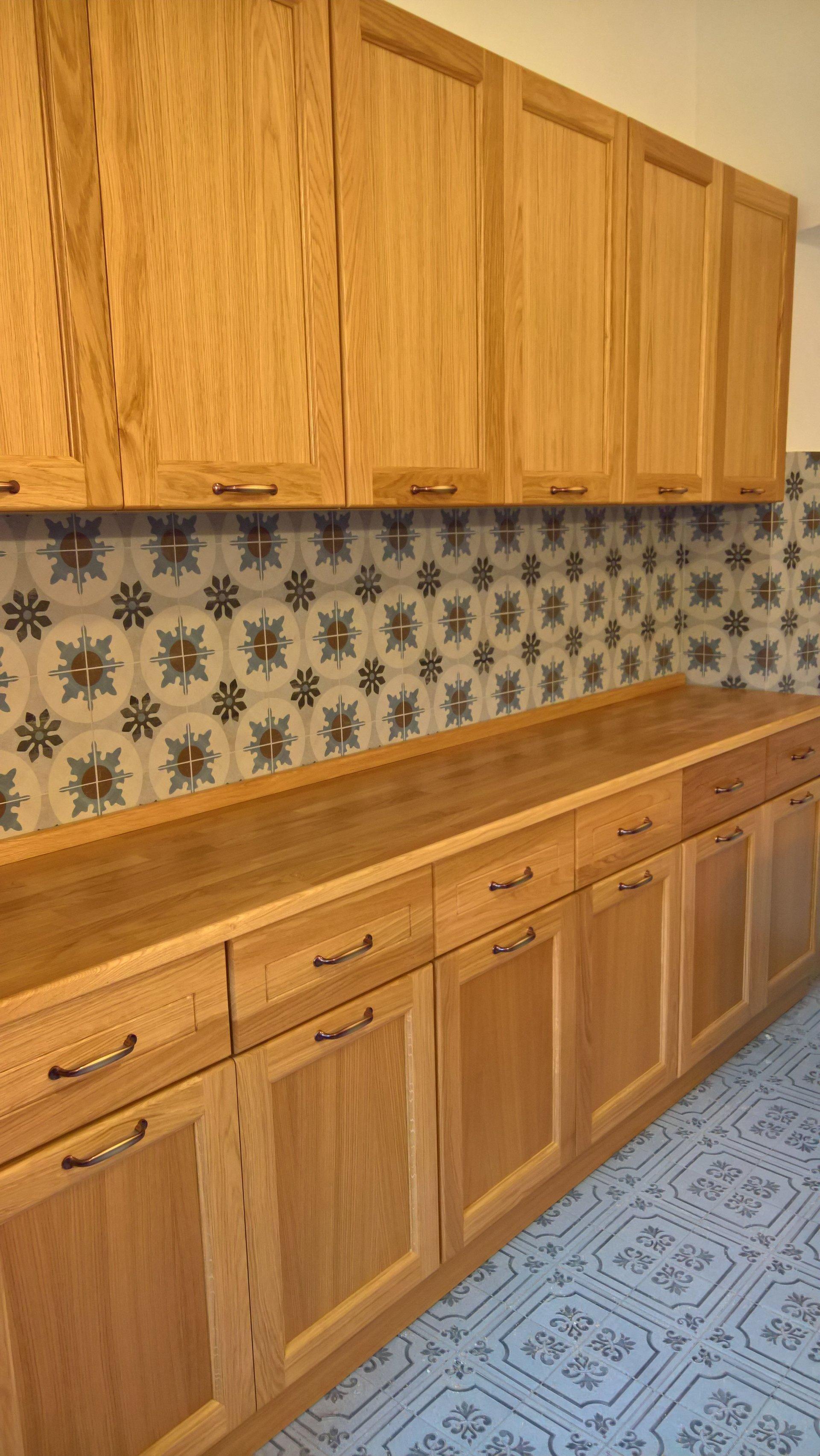 cucina lineare in legno