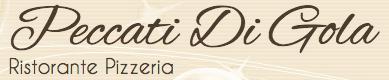 Testuale logo di ristorante pizzeria Peccati di Gola