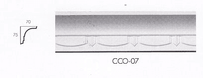 cco 07 square egg dart cornice