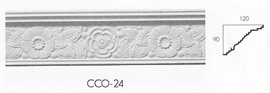 cco 24 small floral cornice