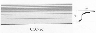 cco 26 large 3 step conopy cornice