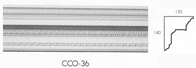 cco 36 superior egg and dart bead cornice