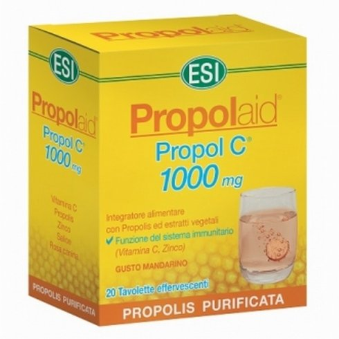 ESI Propolaid Propol C 1000 mg Propolis Integratore Vitamina C Zinco Tavolette Effervescenti
