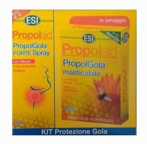 ESI Propolaid Kit Protezione Gola PropolGola Tavolette Masticabile Forte Spray Propolis