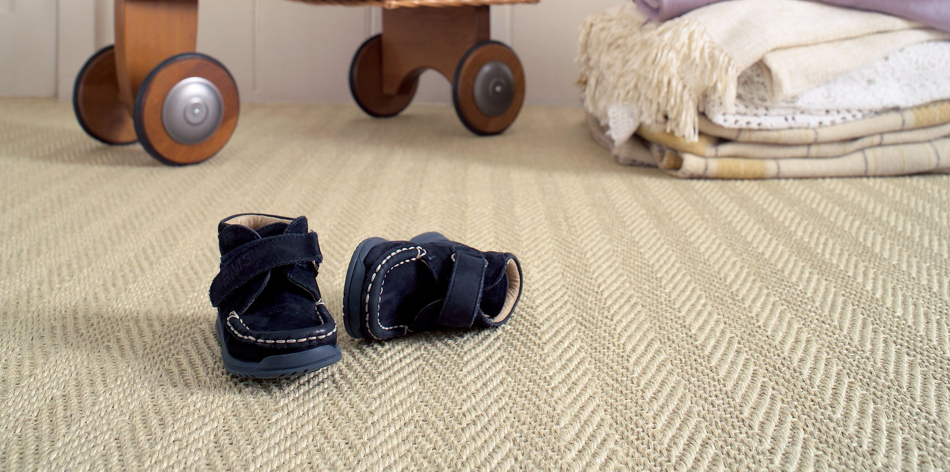 shoes on the carpet