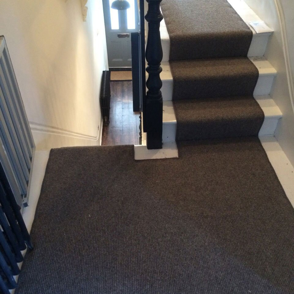 partial staircase carpet