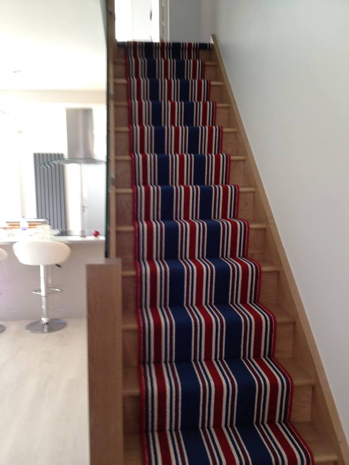 stylish staircase carpet