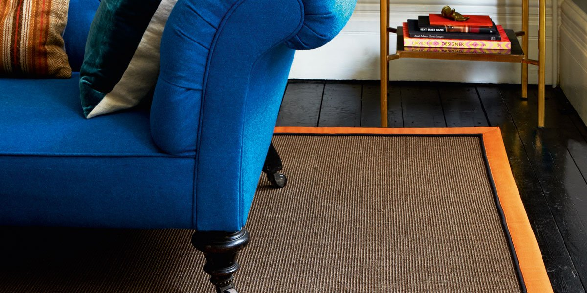 dark blue sofa