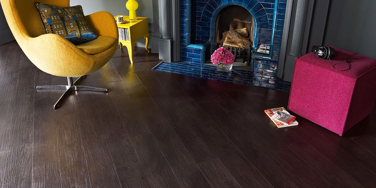 dark brown wooden flooring
