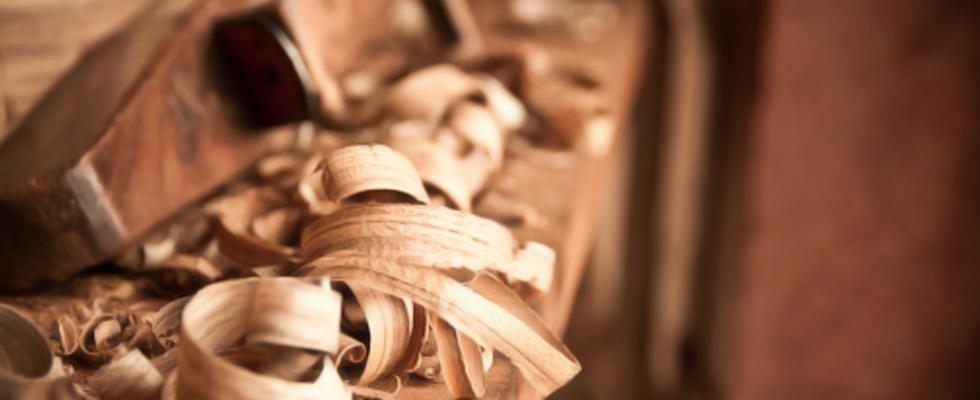 dei trucioli di legno