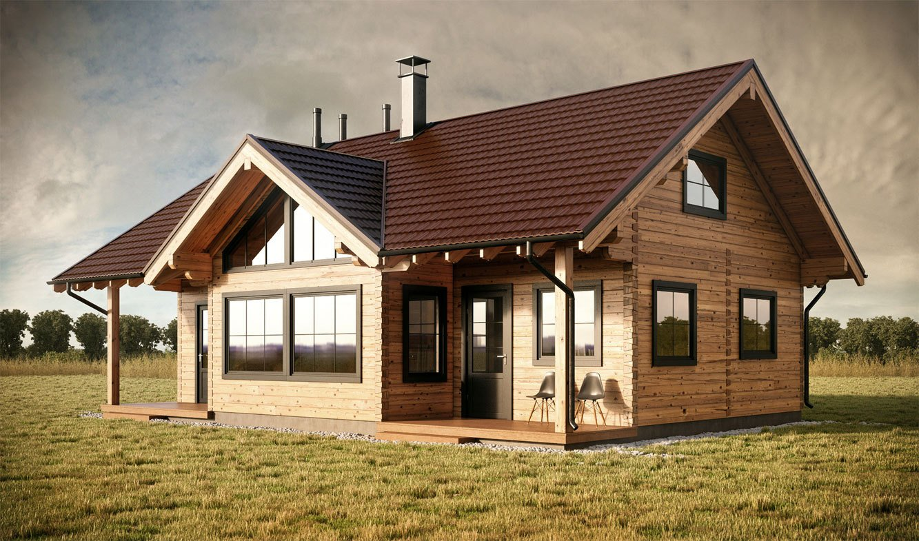 Two and three bedroom log cabin designs by log cabin uk for 3 bedroom log cabin house plans