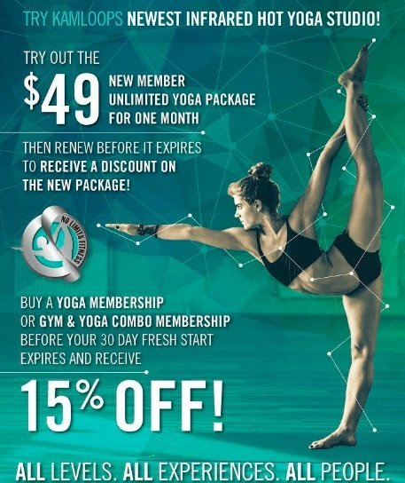 Promotion ad for yoga