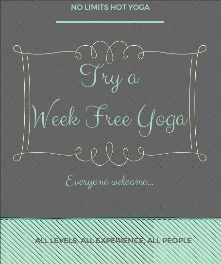 Promotion ad for hot yoga