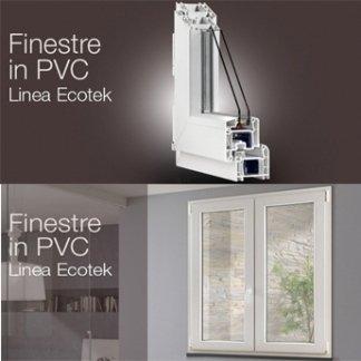 delle guide in PVC bianco e una finestra